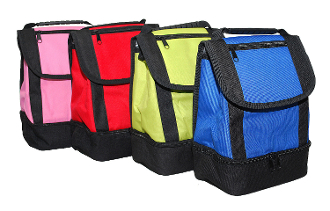 Lovable Lunch Bags Flapover Dual Compartment Lunch Tote