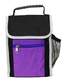 Lovable Lunch Bags Flapover Contrast Lunch Tote
