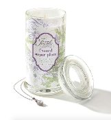 Giftcraft Frosted Sugar Plum Secret Jewels Christmas Candle