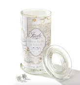 Giftcraft Silver Bells and Birch Secret Jewels Christmas Candle