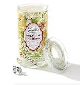 Giftcraft Gingerbread Traditions Secret Jewels Christmas Candle