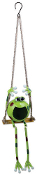 Swinging Froggy Solar Hanging Buddy 36""