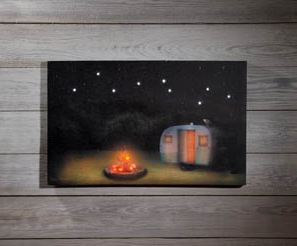 Under the Stars Lighted Canvas