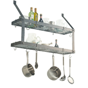 Rogar Double Bookshelf Wall Mount Pot Racks