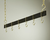 "Rogar Hanging 36"" Bar Pot Rack"