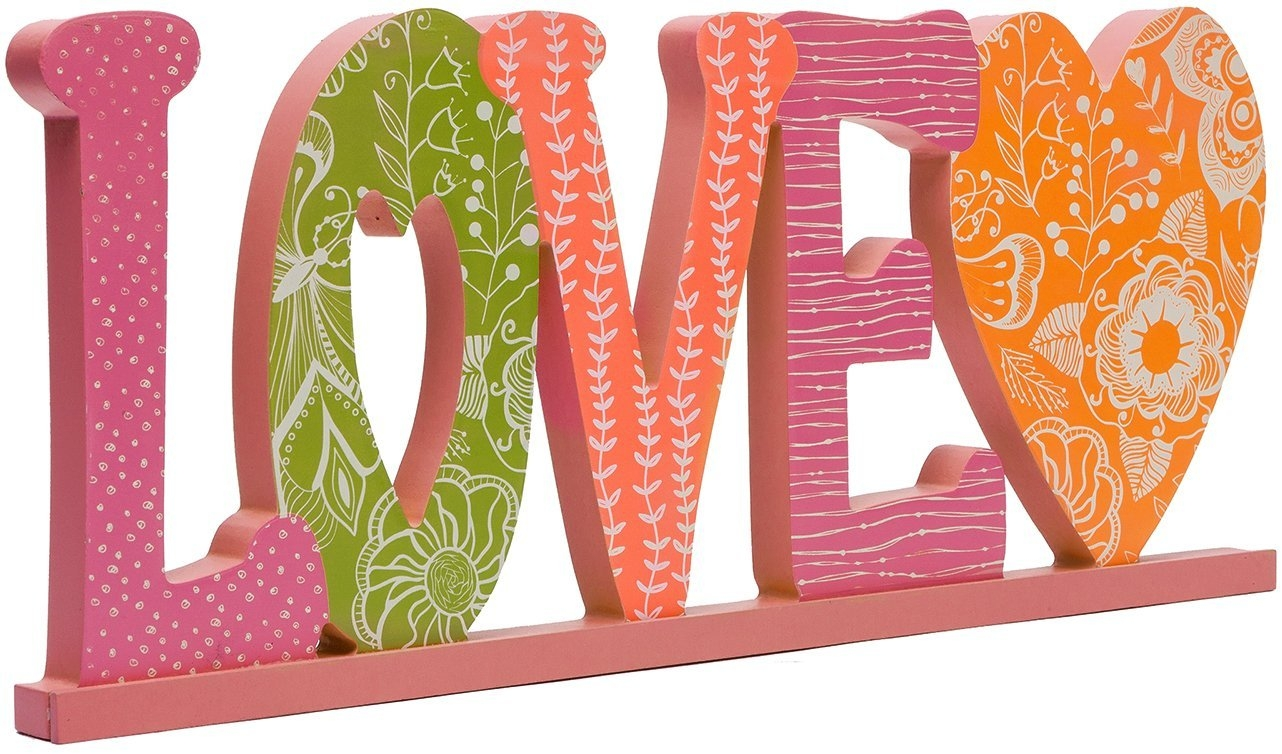 C.R. Gibson 'Love' Word Plaque, Large