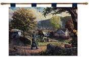 Thomas Kinkade Home Coming Hero Tapestry