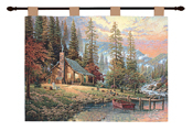 Thomas Kinkade A Peaceful Retreat Cotton Tapestry