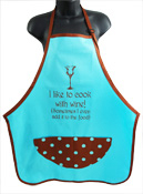 Wild Hare Designs Apron– I Like to Cook with Wine! ...