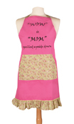 Sassy Style Cook's Apron - Wow is Mom Spelled Upside Down